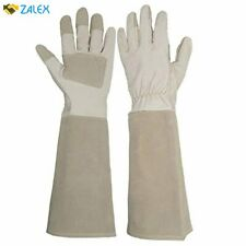 Long Sleeve Leather Gardening Gloves Puncture resistant Breathable Pigskin Leath
