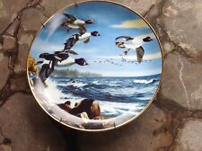 Over Water by David Maass Danbury Mint Decorative Plate Ducks On The Wing