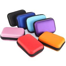 Portable Earphone Data USB Cable Travel Case Organizer Pouch Storage Bag New