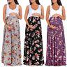 UK Summer Maternity Pregnant Womens Sleeveless Long Dress Party Evening Sundress