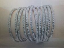 New Leather Multilayer Wrap Bracelet 6 row Crystal look Women's Gray