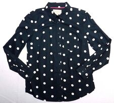 WOMENS soft wash spotted navy SHIRT blouse = BANANA REPUBLIC = SIZE SMALL = de96
