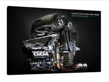 Mercedes F1 V6 Engine 30x20 Inch Canvas - Formula One Framed Picture Hamilton