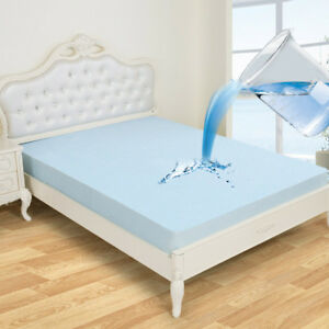 Bamboo Fabric Quilted Waterproof Mattress Pad Cover Super Soft Breathable
