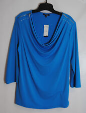 PREMISE Blue Blouse Size XL 16 NWT Retail $58