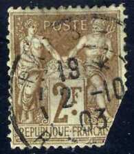 1900 FRANCE brn, azure Ordinary Paper Type Sage SC#108 A15 2fr used