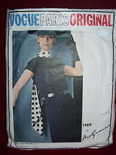 1965 VOGUE PARIS ORIGINAL #1489-DESIGNER MOLYNEUX-LADIES RETRO DRESS PATTERN  14