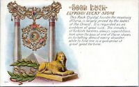 Embossed Good Luck Sphinx Egyptian Lucky Stone 1910 Postcard