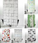 "Tropik Home Bathroom Shower Curtain Extra Long Wide 180 x Drop 200 cm (71""X78"")"