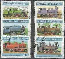 Timbres Trains Bénin 814/9 o lot 25299