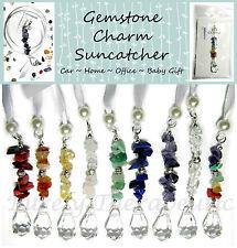 GEMSTONE CAR CHARM Sun Catcher Crystal Gemstone Healing Baby Handmade Mobile