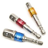 """3Pcs Socket Adapter Drill Bits Set Hex Impact Driver Tools 1/4"""" 3/8"""" 1/2"""" Shank"""