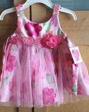 Baby Girl Pink Floral Summer Dress by Youngland Baby  12 Months  NEW!