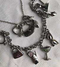 Lia Sophia Party Girl Charm Bracelet & Shopping Spree Necklace Purse Ring Heels