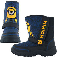 Minions Snow Boots, Childrens Despicable Me Snow Boots - Blue - Size 7-13