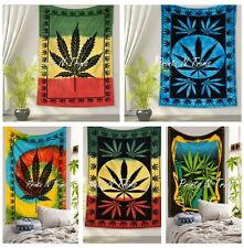 5 pc Hempest Leaf Cannabis Tapestry Gypsy Hippie Decor Marijuana Wall Hanging