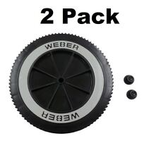 "2 Weber Grill Part # 63050 8"" Wheel and Cap - Gas and Charcoal Kettle Grills"