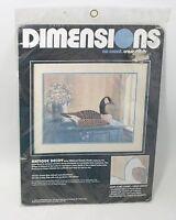 Vintage 80's 1987 Dimensions Antique Decoy No Count Cross Stitch Kit #3638 18X14