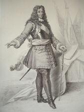 SIÈCLE DE LOUIS XIV / GRAVURE 1840 / LE MARÉCHAL DE LUXEMBOURG