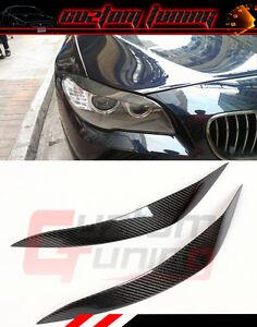 FOR 2011-16 BMW F10 520i 528i 535i 550i M5 CARBON FIBER HEADLIGHT EYELID EYEBROW