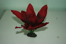Aquarium Silk Plant Amazon Red Leaf Plant 40 cms High Suitable For All Aquariums