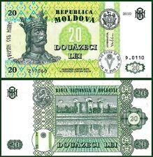 MOLDOVA 20 LEI 2010 UNCIRCULATED P.13