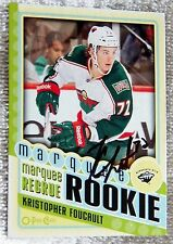 Minnesota Wild Kristopher Kris Foucault Signed 12/13 O-Pee-Chee Rookie Card Auto