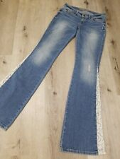 Guess womans distressed hippie boho bellbottom flair jeans size 26x33