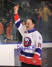Bryan Trottier Signed NEW YORK ISLANDERS 8x10 Glossy Photo AUTOGRAPH Hof Rare