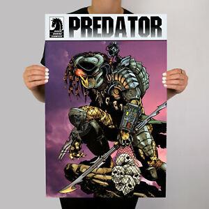 Predator Comic Metal Movie Poster Vintage Artwork Yautja Aliens Xenomorph .