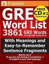 GRE Word List: 3861 GRE Words For High GRE Verbal Score by Franklin Vocab System