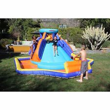 Inflatable Water Slide Pool Bounce House Splash Park Kids Outdoor Backyard Play