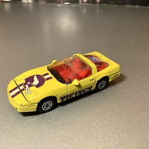 Corgi Juniors NFL Minnesota Vikings Chevy Corvette Yellow 1/64 Die-Cast 1983