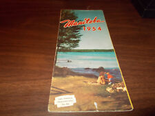 1954 Manitoba Province-issued Vintage Road Map