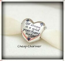 Genuine Authentic PANDORA Silver Disney Cinderella Heart Charm 791593CFL