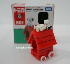 Takara Tomy Tomica Ride On R01 Peanuts Snoopy x House Car Vehicle Model