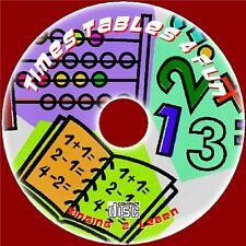 Teach enfants Times Tables Fun Learn & Singer 2x-12x Easy sing along CD AUDIO