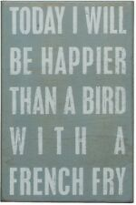 Seagull Bird w French Fry Happiness Box Sign Beach Wall Art pkbs 15899 NEW
