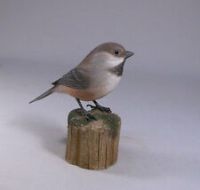 Boreal Chickadee Orig Bird Backyard Carving/Birdhug
