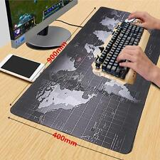 900*400*2MM World Map Anti-Slip Large Computer Rubber Game Mouse Pad Mat XL Size