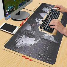 900*400MM World Map Anti-Slip Computer Rubber Speed Game Mouse Pad Mat XL Size