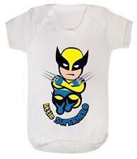 Baby Wolverine little superhero funny costume Bodysuits son dad 100% Cotton 0-24