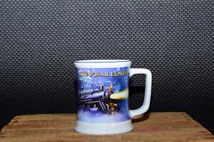 The Polar Express BELIEVE 3D Raised Ceramic Hot Cocoa Coffee Mug Cup Rare Design