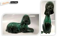 More details for rare vintage blue mountain pottery~green black dogs mid century retro vgc