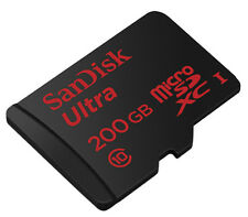 SanDisk Ultra MicroSDXC 200 GB Class 10 Memory Card 90 MB/s  with Adapter 200GB