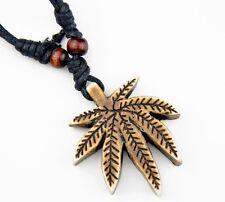 Cool Men's Marijuana leaf pendant necklace