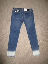 New with tags RVCA Jeans LATELY Indigo size 29 Totally Customized UNIQUE!!