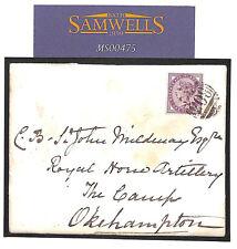 MS475 1887 GB números * 804 * * Cubierta Dulverton Okehampton campamento * militar Devon