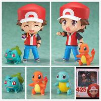 Pokemon Red Action Figure Toy Nendoroid Ash Zenigame Charmander Bulbasaur 425#