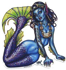 Fiji Mermaid STICKER Decal Artist Big Toe BT72